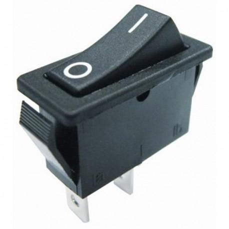 Interrupteur à bascule - rectangle - 2 positions - noir