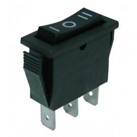 Interrupteur à bascule - rectangle - 3 positions - noir