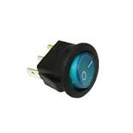 Interrupteur à bascule - rond - 2 positions - bleu
