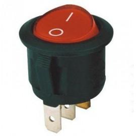 Interrupteur à bascule rond - 2 positions - rouge