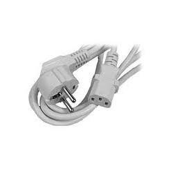Cordon d'alimentation secteur avec connecteur - IEC13 - schuko - blanc - 2m