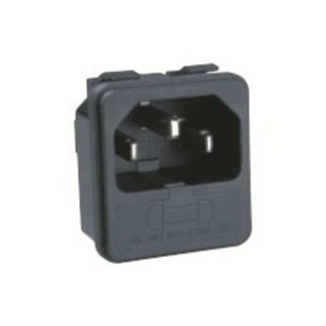 Embase Secteur Mâle IEC14 + fusible 5x20