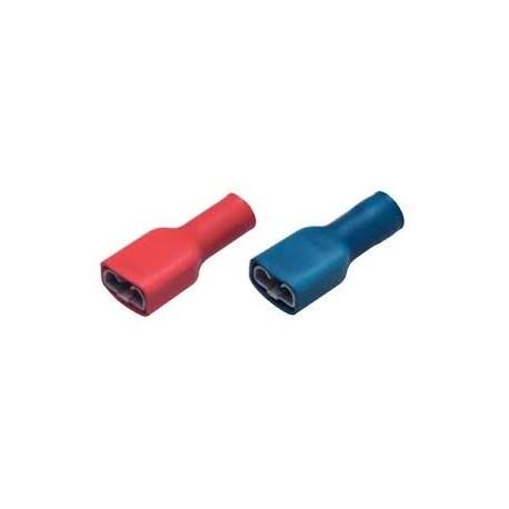 Cosses femelles pour fast-on de largeur  2.8, 4.5,  6.35 mm - sachet de 10 pièces