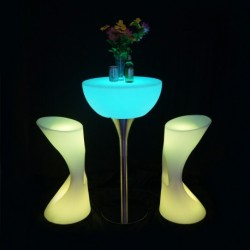 Table de bar lumineuse RGB + TELECOMMANDE 58*58*110