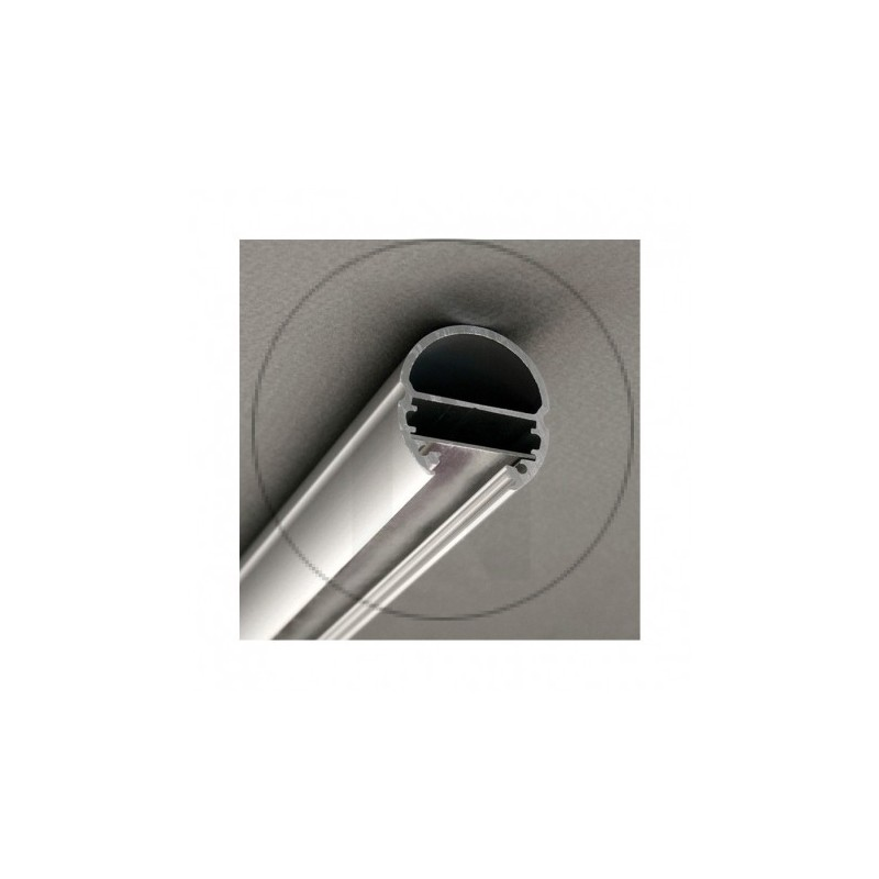 Profile Ovale Aluminium Anodisé 1m pour bandeaux LED