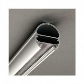 Profile Ovale Aluminium Anodisé 2m pour bandeaux LED