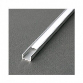Profile Fin Aluminium Anodisé 2m pour bandeaux LED