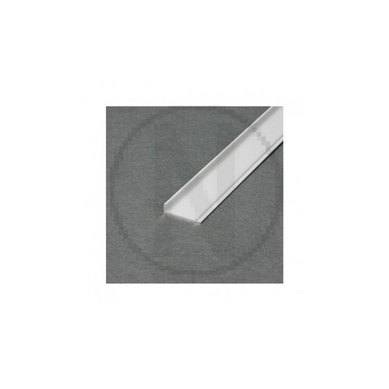 Couvercle Profile Marche Aluminium Anodisé 2m pour bandeaux LED
