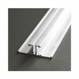 Profile Arrière Aluminium Anodisé 1m pour bandeaux LED
