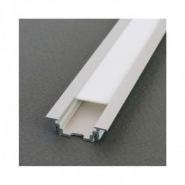Profile Rainure Aluminium Brut 2m pour bandeaux LED