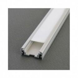 Profile Plat Aluminium Brut 2m pour bandeaux LED