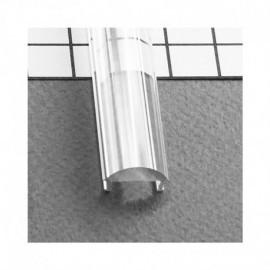Diffuseur Lentille 60° Profile 15.4mm Transparent 1m pour bandeaux LED