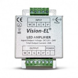 Amplificateur pour bandeaux LED RGB 12/24V