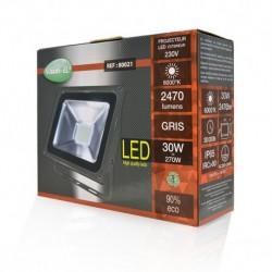 Projecteur Exterieur LED Plat Gris 30W 6000°K