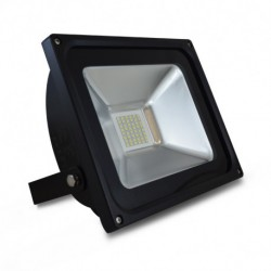 Projecteur LED Plat Noir 230V 30W 6000°K IP65