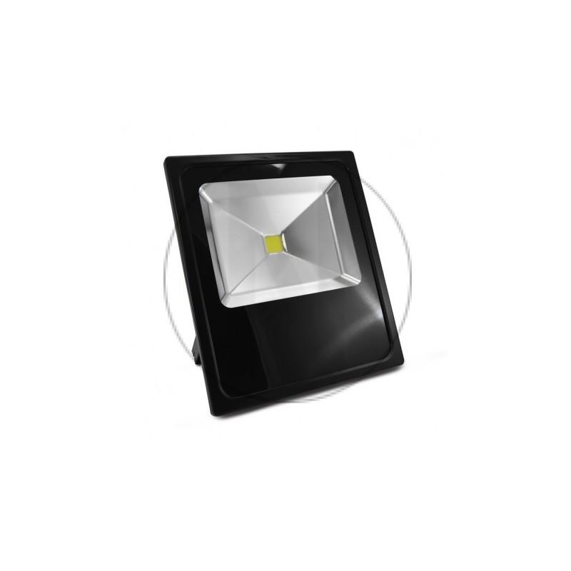 Projecteur Exterieur LED Plat Noir 80W 6000°K