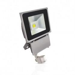 Projecteur Exterieur LED Gris avec Détecteur 80W 3000°K