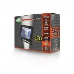 Projecteur Exterieur LED Plat Noir 20W 6000°K