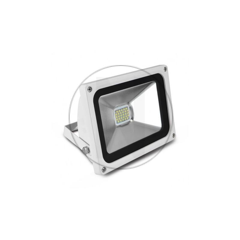 Projecteur Exterieur LED Plat Blanc 20W 6000°K