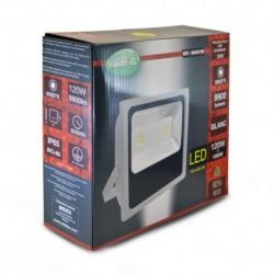 Projecteur Exterieur LED Plat Blanc 120W 6000°K