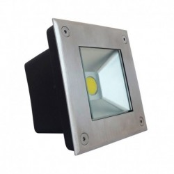 Spot LED Encastrable Sol Carré Inox 3W