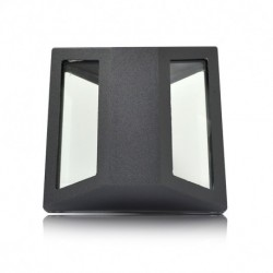 Applique Murale LED Pyramidal Gris Anthracite 3W