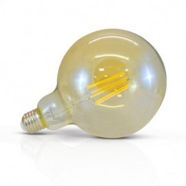 Ampoule LED E27 G125 Filament Golden 8W 4000°K