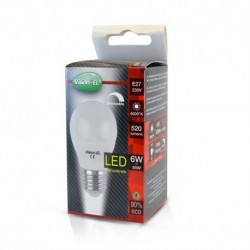 Ampoule LED E27 Bulb G45 Dimmable 6W 4000°K