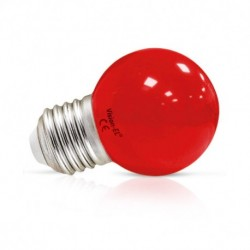 Ampoule LED E27 Couleur Bulb G45 1W Rouge