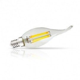 Ampoule LED E14 Filament Coup de vent 4W 6000°K