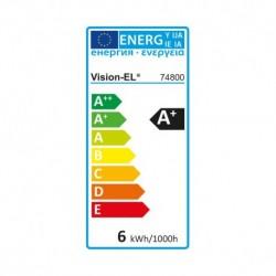 Ampoule LED E14 Coup de vent 6W Dimmable 3000°K
