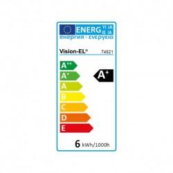 Ampoule LED E14 Coup de vent 6W 6000°K