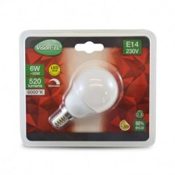 Ampoule LED E14 Bulb P45 6W Dimmable 6000°K