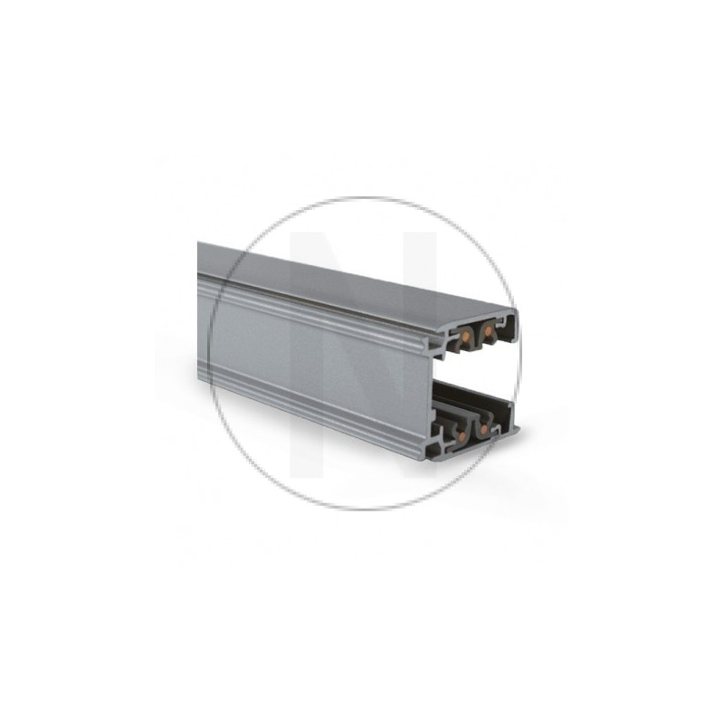 Rail Triphase pour Spots LED Gris 3 m