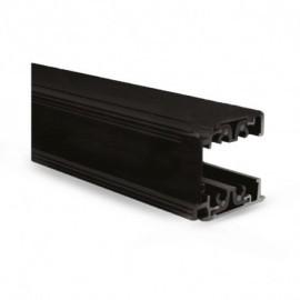 Rail Triphase pour Spots LED Noir 2 m