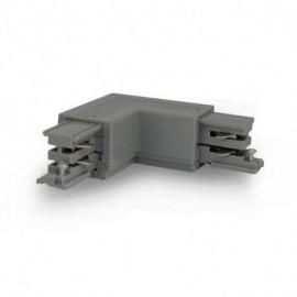 Connecteur Triphase Coude L Circuit Intérieur Droit Gris