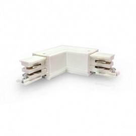 Connecteur Triphase Coude L Circuit Intérieur Droit Blanc