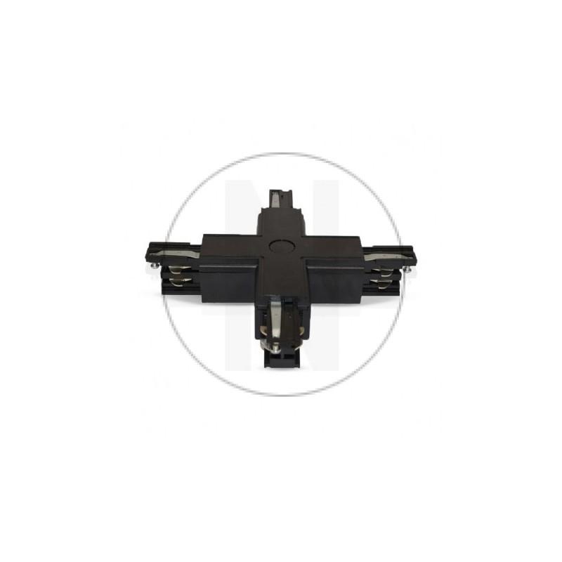 Connecteur Triphase Croix X Noir