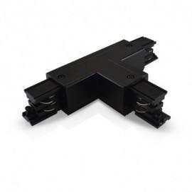 Connecteur Triphase T Circuit Extérieur Droit Noir