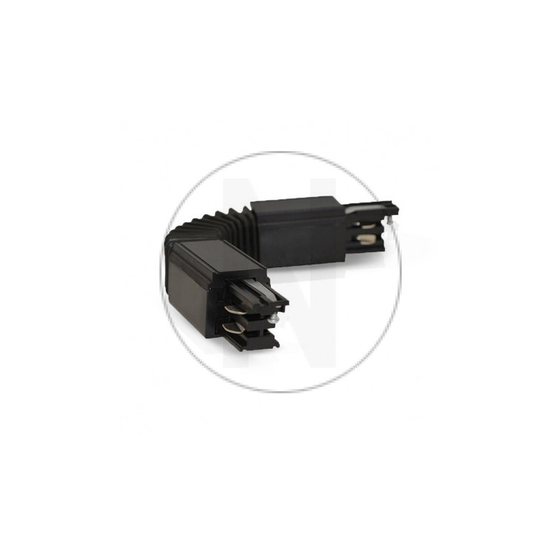 Connecteur Triphase Flexible Noir