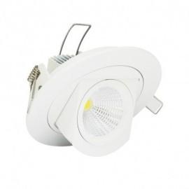 Spot LED Escargot Rond Inclinable et Orientable avec Alimentation Electronique 10W 3000°K