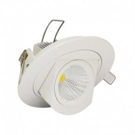NDRD Spot LED Escargot Rond Inclinable et Orientable avec Alimentation Electronique 10W 4000°K
