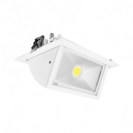 Spot LED Rectangulaire Inclinable avec Alimentation Electronique 30W 4000°K