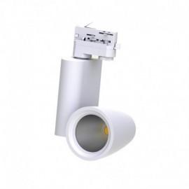 Spot LED sur Rail avec Adaptateur 3 allumages Blanc 30W 4000°K