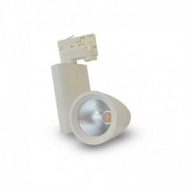 Spot LED sur Rail avec Adaptateur 3 allumages Blanc 35W 4000°K