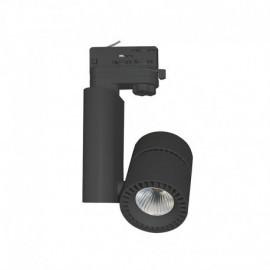 Spot LED sur Rail Noir 28W 3000°K