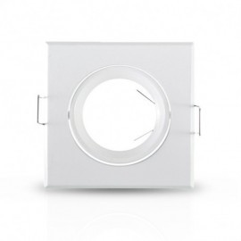 Support plafond Carré Inclinable Blanc 84 x 84 mm