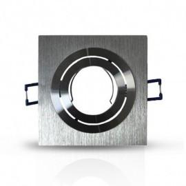 Support de spot carré aluminium 92x92 mm