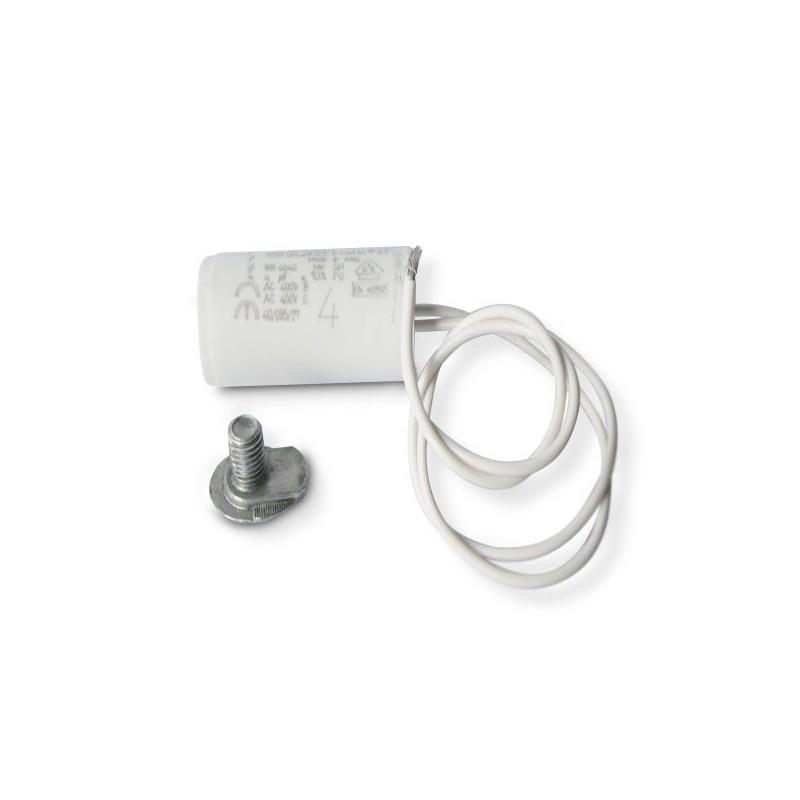Condensateur permanent moteur a fils souples 450vac 4 f for Condensateur moteur piscine