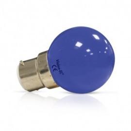 Ampoule LED B22 Couleur Bulb 1W Bleu